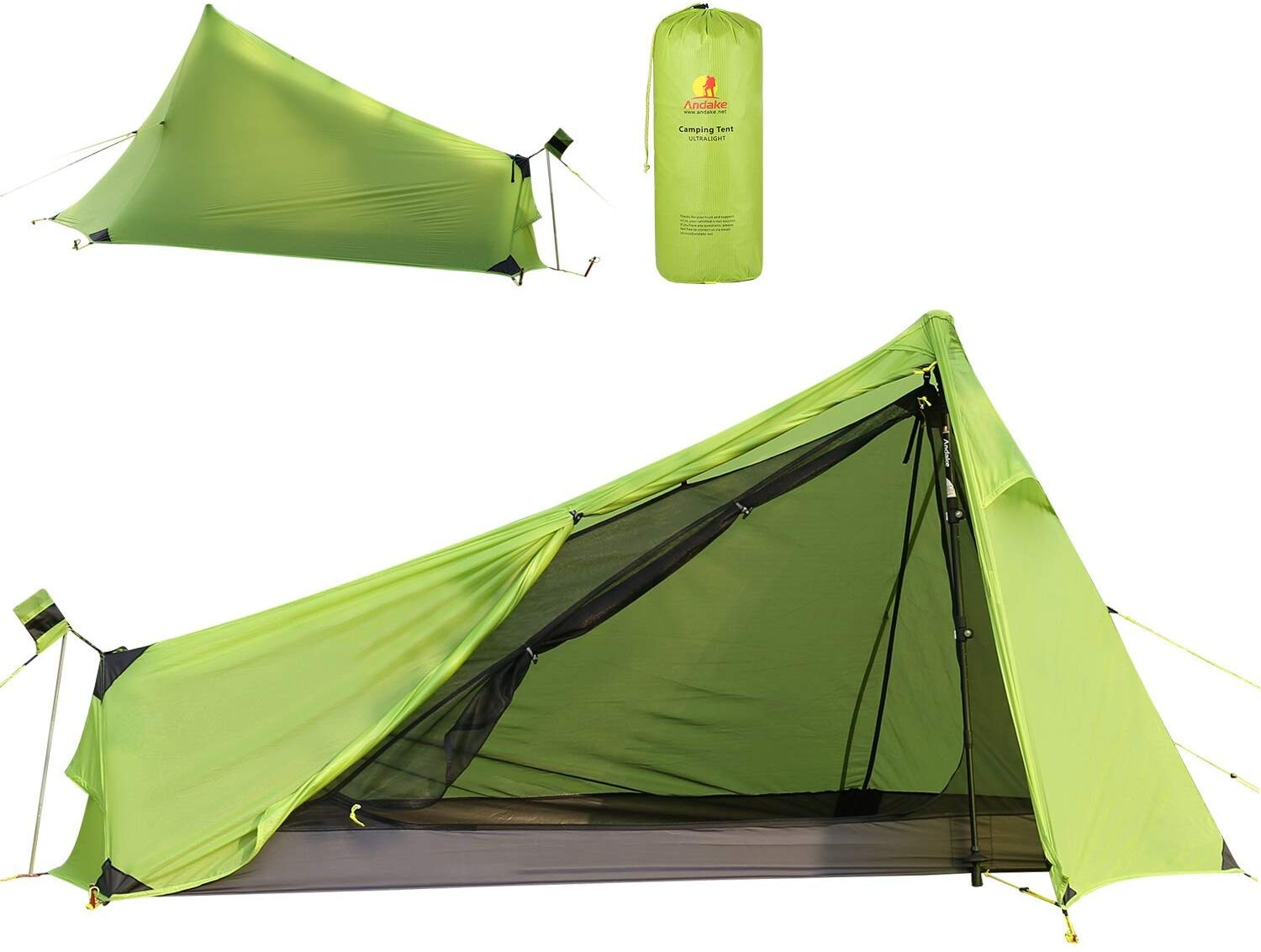Andaker 1.6lb Ultralight Backpacking Tents One Person Man ...